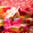 Christmas decoration - gifts — Stock Photo #7635744