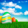 Easter eggs on beautiful nature background — Stock Photo #8861563