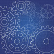 Stock Photo: Gears blueprint