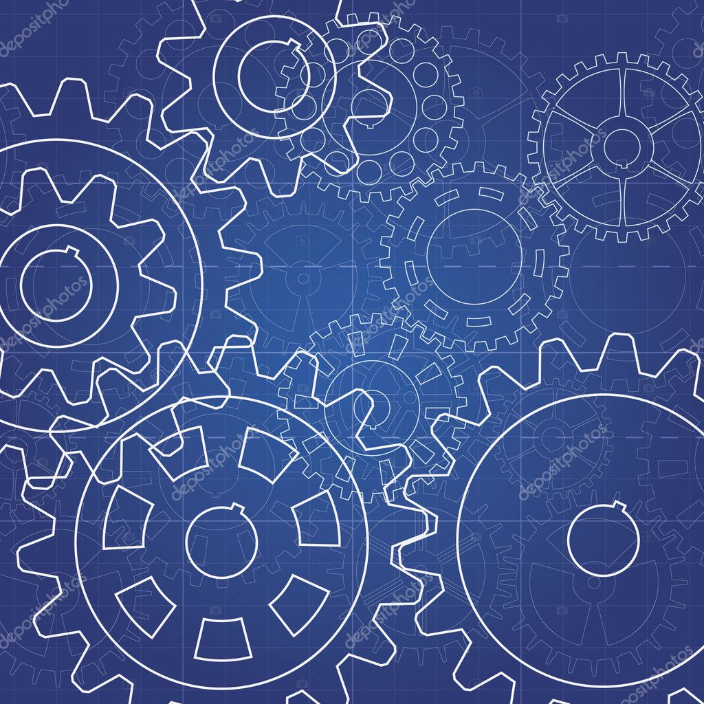 Gears blueprint stock photo darkves 12840388 for Where to buy blueprint paper