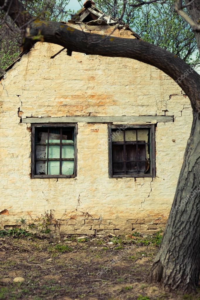 Two window abandoned housse  Stock Photo #13186259