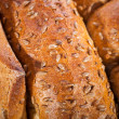 Crusty bread background — Stock Photo
