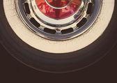 Vintage car tire — Stock Photo
