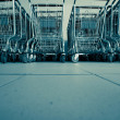 Shopping carts in supermarket — Stock Photo #1684870