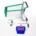 Big and small shopping cart / basket — Stock Photo #1756152