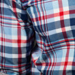 Checked pattern shirt — Stock Photo