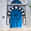 Decorative blue door — Stock Photo