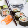 Stock Photo: Rolled up Sushi