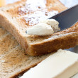 Stock Photo: Toast and butter