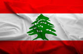 Lebanon flag — Stock Photo
