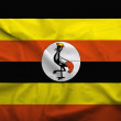 Uganda flag — Stock Photo