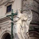 Karlskirche Anget Statue - Vienna — Stock Photo