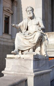 Xenophanes statue at Parliament in Veinna — Stock Photo