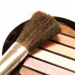 Eye shadows with brush — Stock Photo #2148957