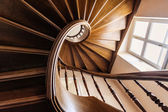Interior wooden stairs — Stock Photo