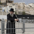 Stock Photo: Jerusalem, Israel - December 09, 2011: Old Jew near Western Wall