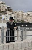 Jerusalem, Israel - December 09, 2011: Old Jew near Western Wall — Stock Photo