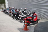 Motorcycles parked. Pattaya. — Stock Photo