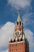 The Kremlin Spasskaya clock tower — Stock Photo