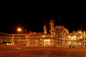 Gas Refinery plant. Night view. Nobody — Stock Photo