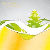 Christmas template frame — Stock Vector
