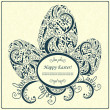 Happy Easter card or frame — Stock Vector