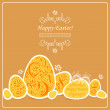 Card with Easter eggs — Stock Vector