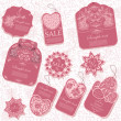 Vector set: 10 vintage tags — Vector de stock #29445767