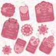 Vector set: 10 vintage tags — Stock Vector