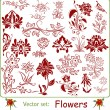 Vector set: Flowers — Stock Vector #29445793