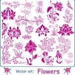 Vector set: Flowers — Stock Vector #29445797
