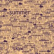 Abstract colorful image made from words which relate with summer and holiday — Stock Vector #29446311