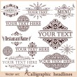 Vector set: calligraphic design elements for menu or its. — Stock Vector #29446819