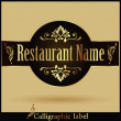 Vector de stock : Restaurant menu Label