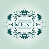 Vector calligraphic design element for menu — Stock Vector