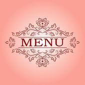 Vector calligraphic design element for menu — Stock Vector