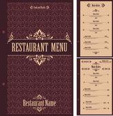 Restaurant menu design template - vector — Stock Vector