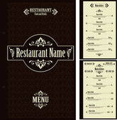 Restaurant menu design template - vector — Stock Vector