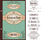 Restaurant-menü-design-template - vektor — Stockvektor
