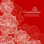 Red vintage greeting — Vettoriale Stock