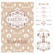 Vector Restaurant menu design template — Stock Vector