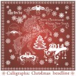 Vector set: Calligraphic Christmas headlines — Stock Vector