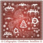 Vector set: Calligraphic Christmas headlines — Stock Vector #36261239