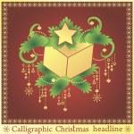 Calligraphic Christmas present — Stockvektor