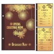 Vector Restaurant Christmas menu design template — Stock Vector