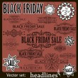 Black Friday sale calligraphic design elements. — Stock Vector