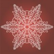Vintage Christmas background with isolated snowflake for invitation — Stockvector