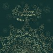 Vintage Christmas background for invitation — Stock Vector