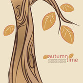 Abstract automn tree. Vector illustration. — Stock Vector