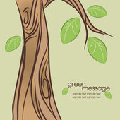 Abstract spring tree. Vector illustration. — Stock Vector